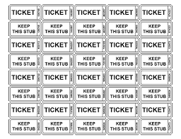 template raffle tickets free printable raffle ticket templates 10 honors pinterest