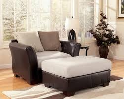 logan stone microfiber chair and a half by ashley furniture