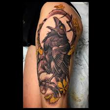 Best Tattoos Ideas Dan Fletcher Raven Tattoo тату и птицы