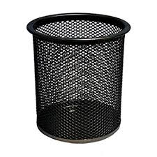 Pro Range <b>Black Wire Mesh</b> Pencil And Pen Cup <b>Desk</b> Tidy ...