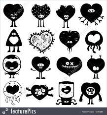 Illustration Of Silhouette Hearts