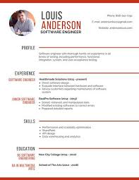 Resume Template Software Professional Software Engineer Resume Templates By Canva