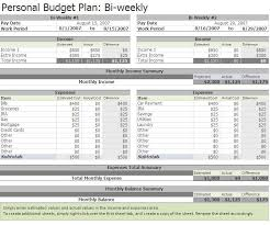 excel template monthly budget free biweekly budget excel template a home of my own pinterest