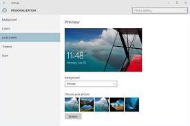 Login Screen Background on Windows 10 ...