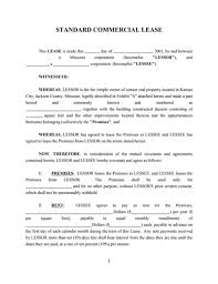 Free Commercial Lease Agreements Forms Commercial Lease Agreement Template Free Download Create Fill