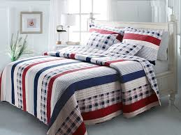 greenland home fashions nautical stripes quilt set full queen