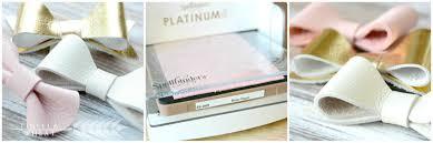 diy leather hair bows spellbinders platinum 6 cutter