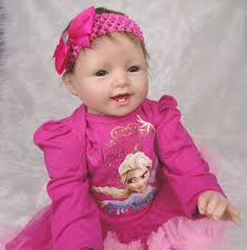 Free shipping 22 Inches Silicone Reborn Baby Doll for sale Safe ...