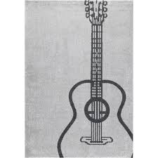 nuloom tyrell guitar grey 5 ft x 8 ft area rug