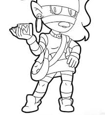 Brawl stars characters are the most diverse and have their own unique abilities. Brawl Stars Coloring Pages 1nza