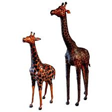 giraffe statue for pair of large leather giraffe sculptures for tall giraffe statues for giraffe statue
