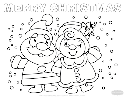 This printable bilingual template makes crafting easier for kids at home or school! Christmas Coloring Pages