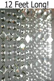 Aces and Eights 3' x 12' Crystal Bead Curtain - $70 Will cover wall