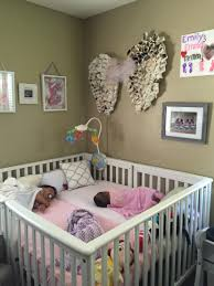 twins nursery furniture. crib for twins or multiples put same things on both sides of so babies have thing like baby mobile each side nursery furniture