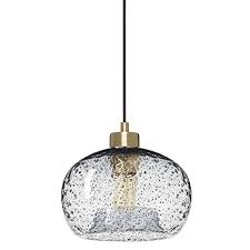 Image Flush Mount Casamotion Pendant Lighting Handblown Glass Drop Ceiling Lights Rustic Hanging Light Clear Seeded Glass With Black Sand Powder Brushed Brass Finish Pinterest Casamotion Pendant Lighting Handblown Glass Drop Ceiling Lights