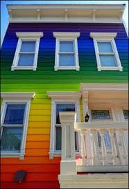 rainbow house googl33uo5 bright colorful home