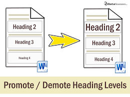 3 Ways To Batch Promote Or Demote Heading Levels In Your Word