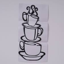 dollar 3d metal coffee cup wall art coffee themed kitchen