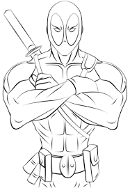 Small Picture Deadpool coloring page Free Printable Coloring Pages