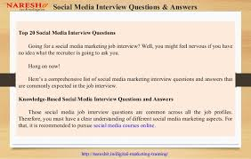 Common Marketing Interview Questions Social Media Marketing Interview Questions And Answers Nareshit