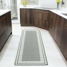 kitchen runner mat grey neutral bordered kitchen hallway mat washable rubber non slip runner rugs kitchen