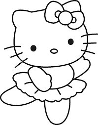 Hello Kitty Pictures To Color Free