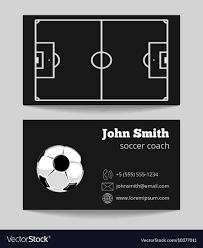 Soccer Business Card Soccer Black Business Card Template