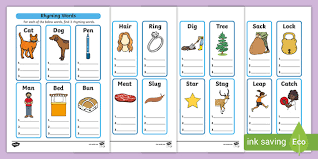 Each phonics game gets progressively harder and teaches you a range of skills, from segmenting and blending, word comprehension, grapheme recognition, pseudo words and more. Free Rhyming Words Worksheet For Kids One Syllable String Worksheets Ver Are Negatives Rhyming String Worksheets Worksheets Money Activities For First Grade 2nd Grade Computer Games Scientific Calculator For Algebra Blank Multiplication