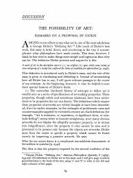 cohen the possibility of art remarks on a proposal by dickie  cohen the possibility of art remarks on a proposal by dickie philosophical science science