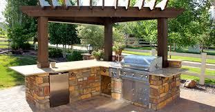 Back Yard Kitchen Landscape Architecture Portfolio Small Cobalt Creative Architect