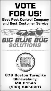 Big Blue Bug Solutions Telegram And Gazette Business Directory Coupons Restaurants