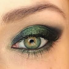 glitter green smokey eyes make up preen me look 5340037
