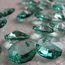 100 antique green 14mm 2 holes crystal chandelier glass octagon beads new color