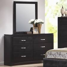 dylan faux leather 6 drawer dresser and vertical mirror