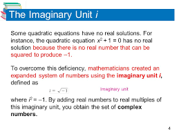 the imaginary unit i