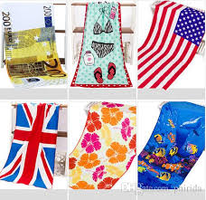 Quality Printed Beach Towels Cartoon Hooded Ocean 15070cm Theme