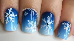 Snowflake Nail Art Tutorial - YouTube
