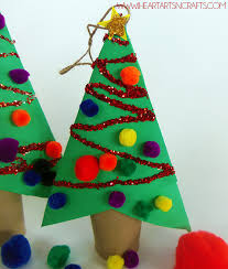 Cardboard Tube Christmas Tree Ornaments