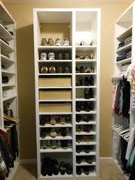 glittering shoe rack for closet how to build closet shoe shelves ideas