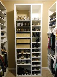 glittering shoe rack for closet how to build closet shoe shelves ideas