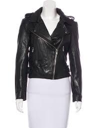 leather moto jacket w tags