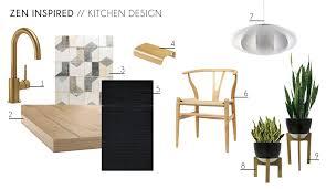zen furniture design. zen kitchen accessories furniture minimal wishbone chair indoor plants contemporary modern design moodboard
