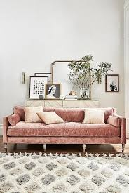 Pink velvet couch Blush Pink Pink Velvet Couch Leaning Art And Vintage Mirror Large Fluffy Rug Pinterest 18 Millennial Pink Decor Items For Your Dream Bachelorette Pad