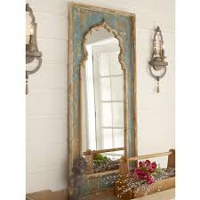 distressed mirrored furniture. Distressed Painted Wood Mirror Teal_cream Mirrored Furniture A