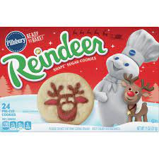 You can also buy pillsbury products online at jet.com or amazon.com. Pillsbury Ready To Bake Reindeer Shape Sugar Cookies 11 Oz Instacart