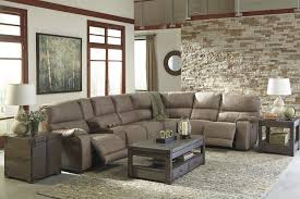 Ashley Furniture Bohannon Power Reclining Sectional in Taupe
