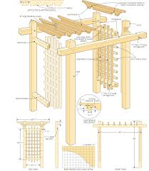 Small Picture Contemporary Garden Arbor Plans Architecture W X H Natural And Design