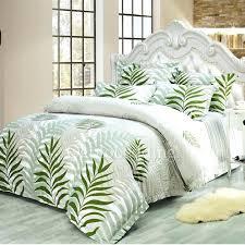 pattern duvet cover comfortable cotton green leaf patterned duvet cover