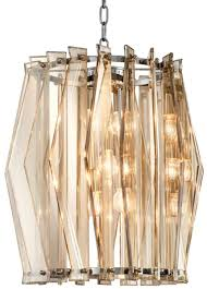 Casa Padrino Luxury Chandelier With Gold Tinted Glass ø 44 X H 50 Cm Living Room Furniture