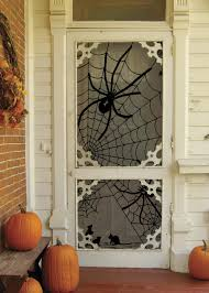 ... Good Looking Idea For Halloween Door Decoration Idea : Handsome Picture  Of Front Porch Decoration Using ...